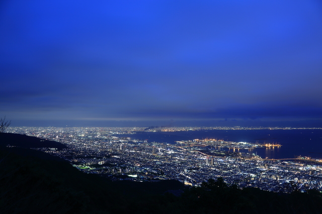 Night view of Kobe seen from Rokko